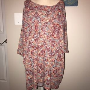 NWT 2X Lularoe Irma colorful print tunic